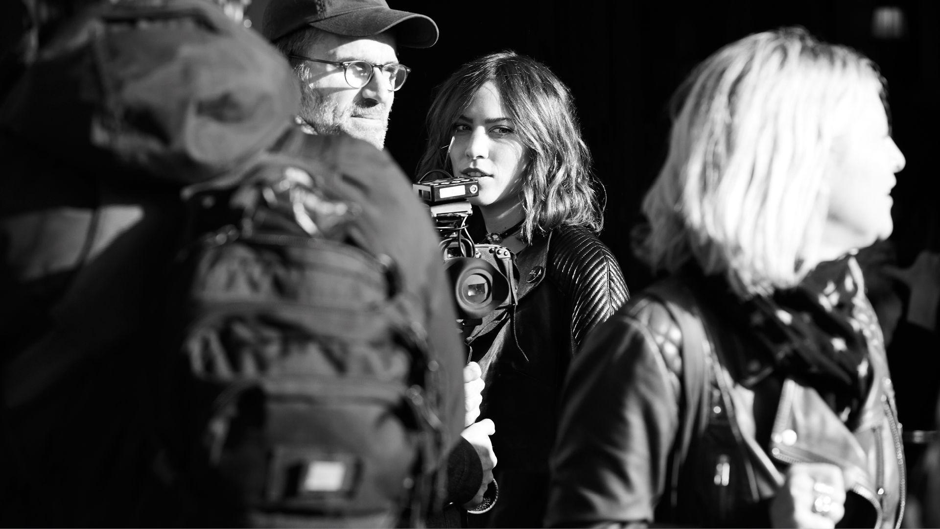 Alexa Chung Behind-The-Scenes