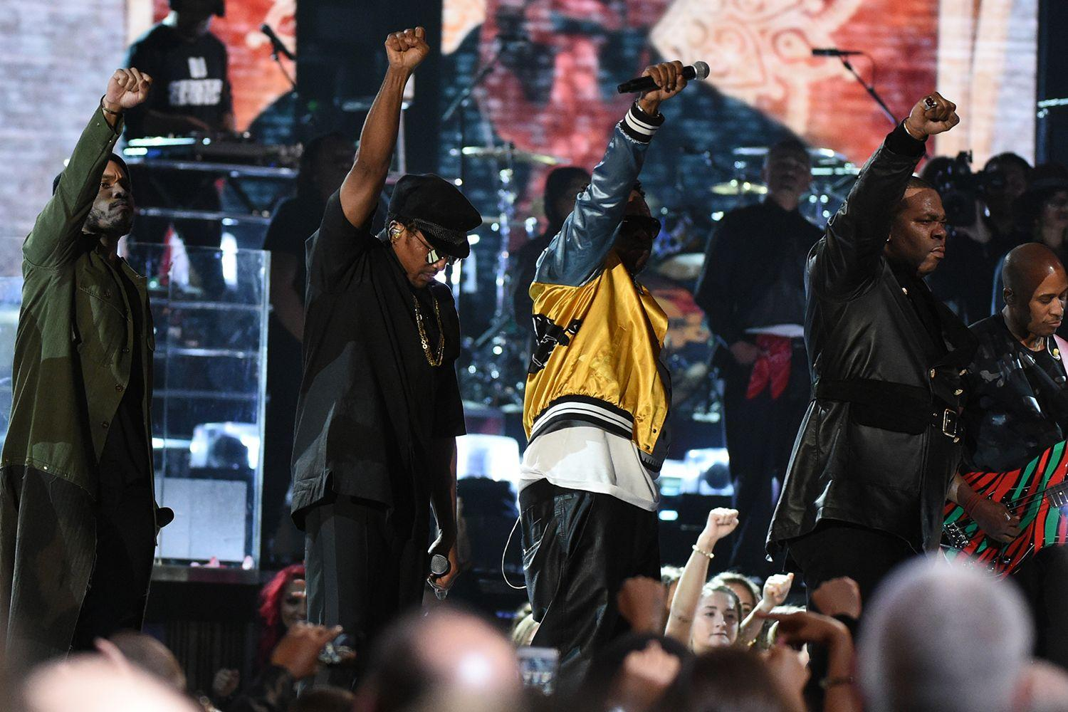 Busta Rhymes Performs At The Grammy's