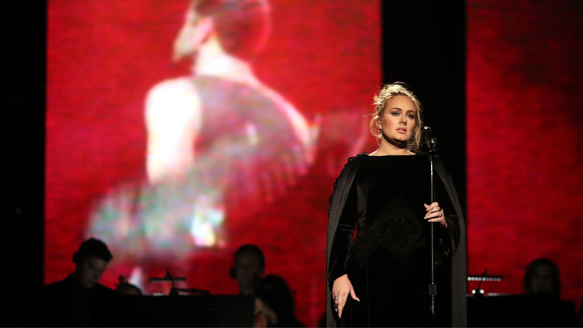Adele Performing At The Grammy's