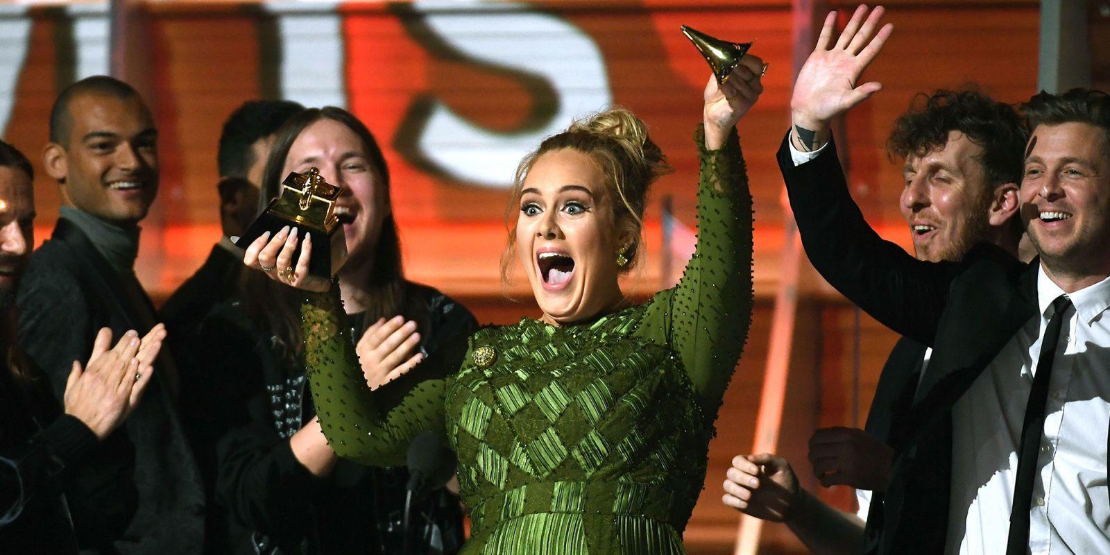 Adele Breaks Her Grammy
