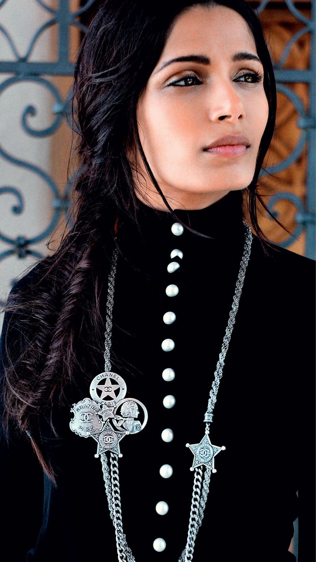 Freida Pinto in Chanel
