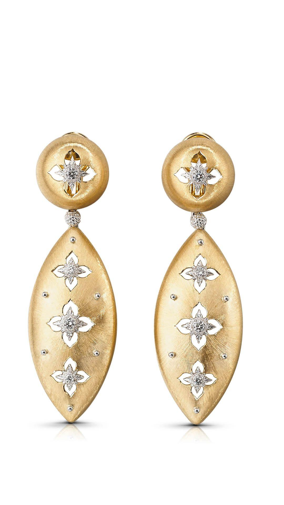 Gold and diamond earrings by Buccellati