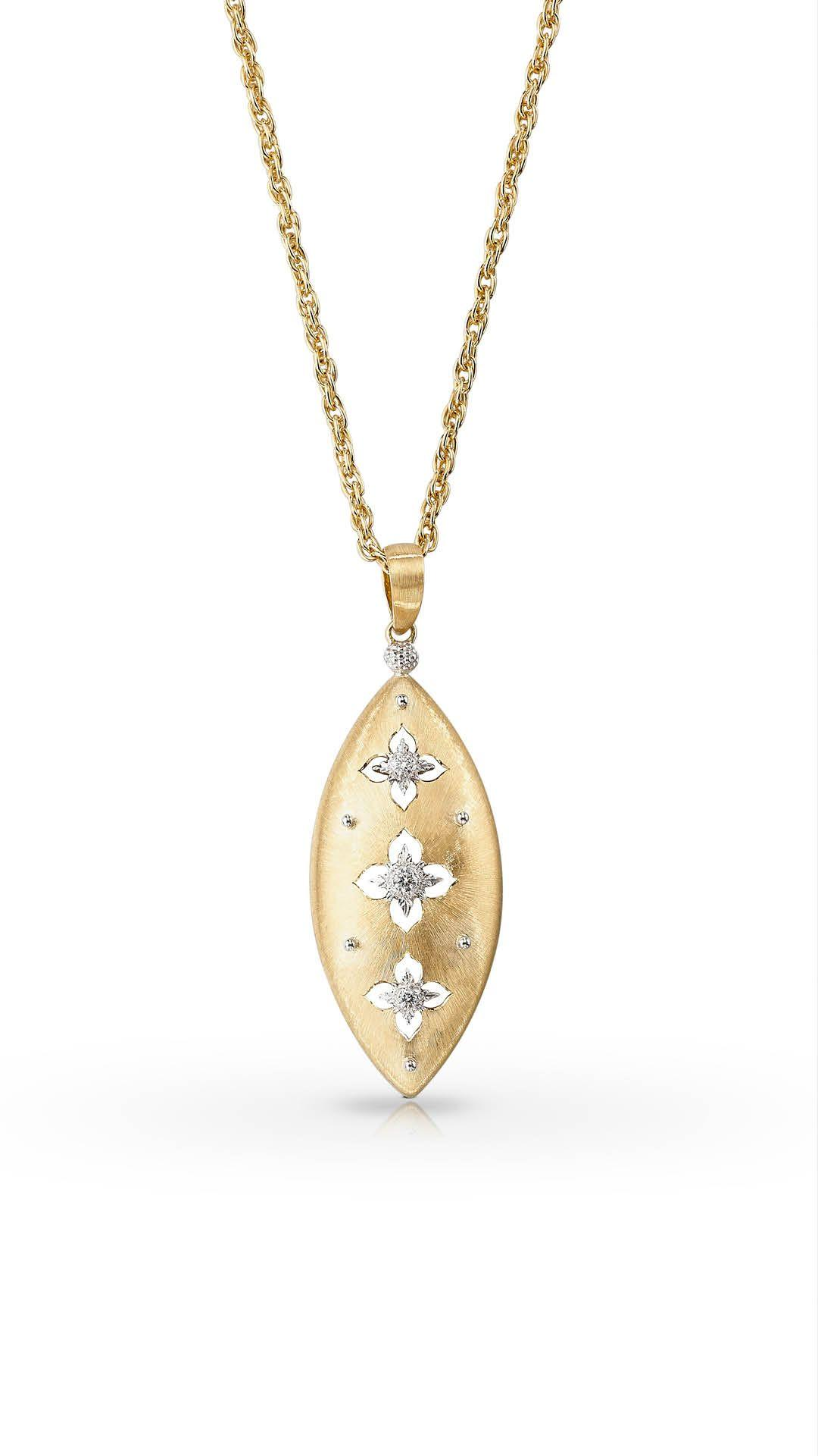 A gold and diamond necklace by Buccellati