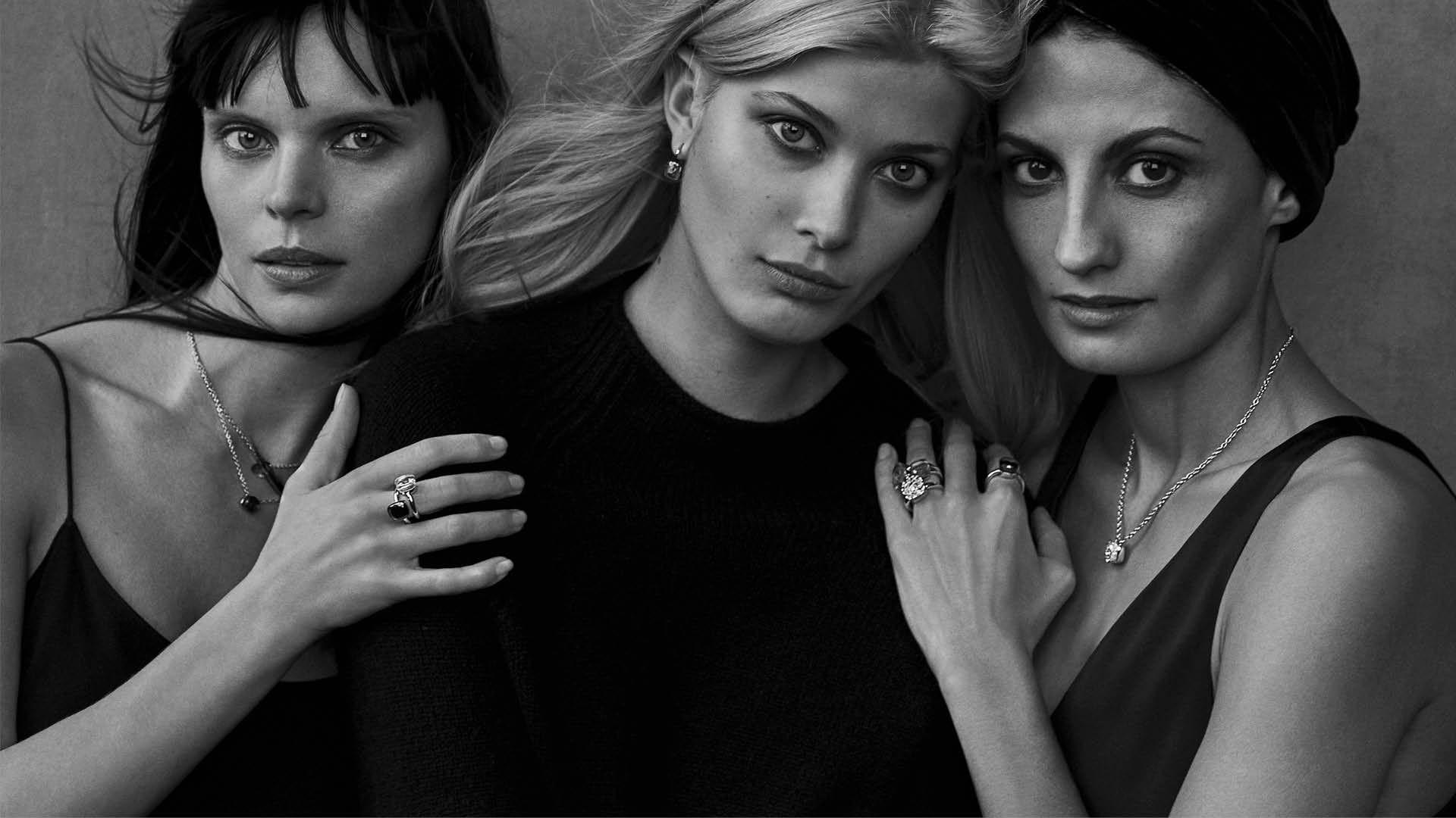 Pomellato campaign shot by Peter Lindbergh