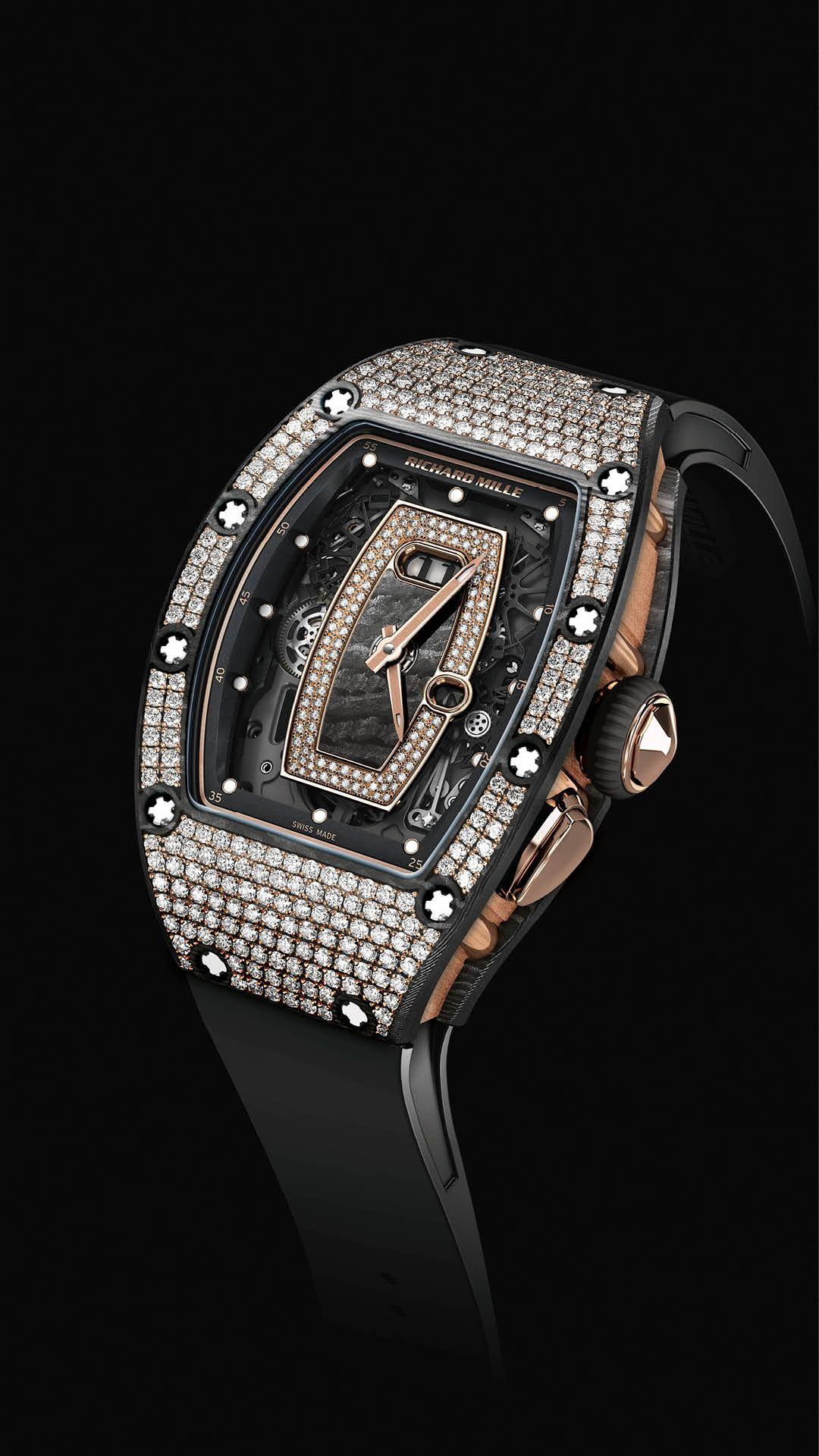 Richard Mille 037 NTPT Carbon and Diamond Watch