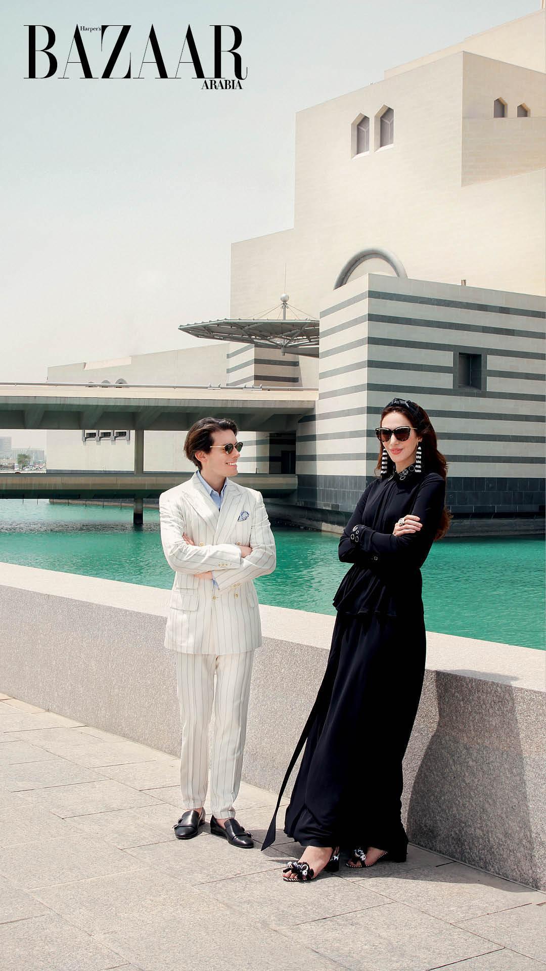 Sheikha Raya Al-Khalifa and Edgardo Osorio