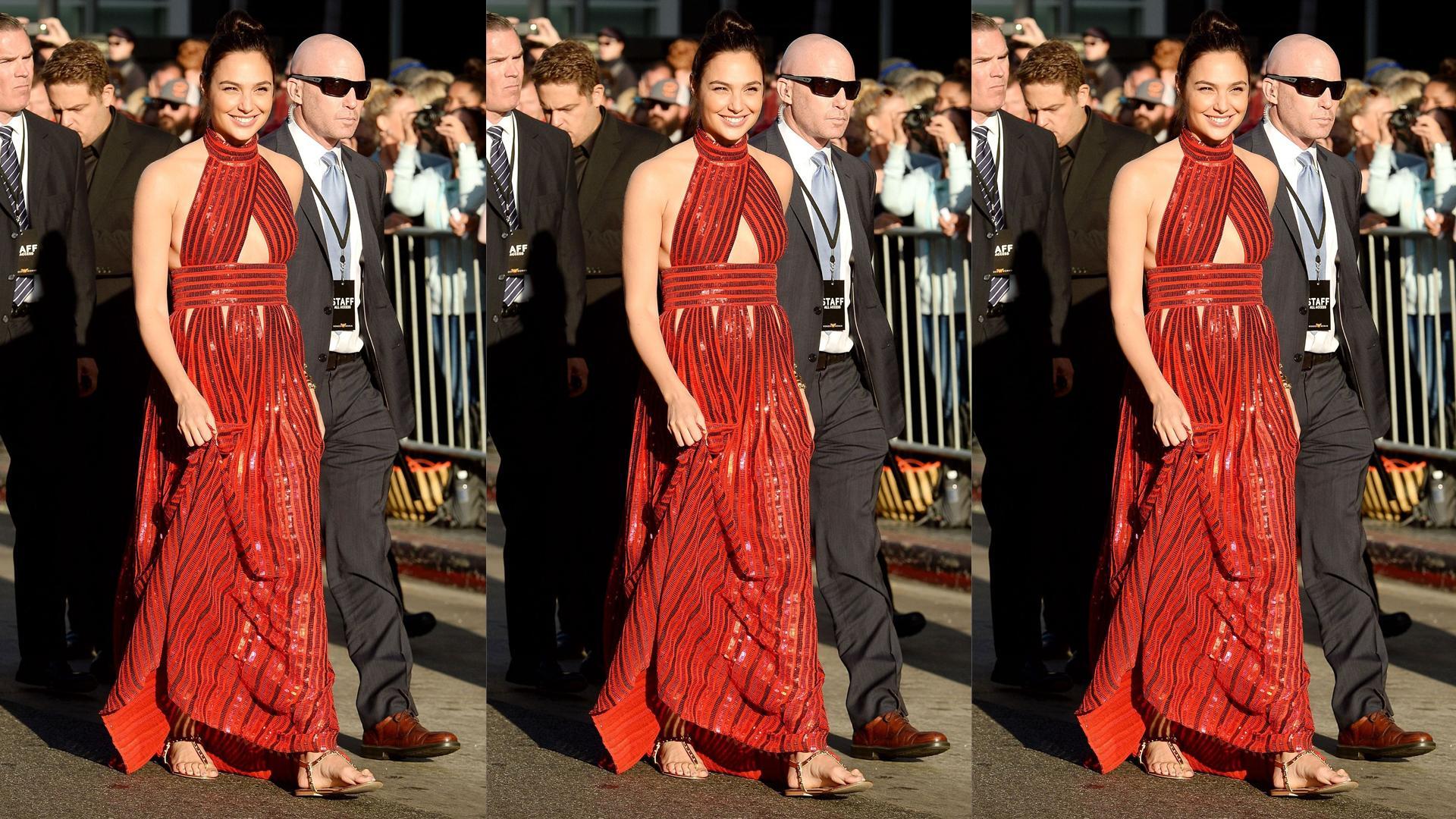 Gal Gadot Wears Aldo To Her Wonder Woman Premiere