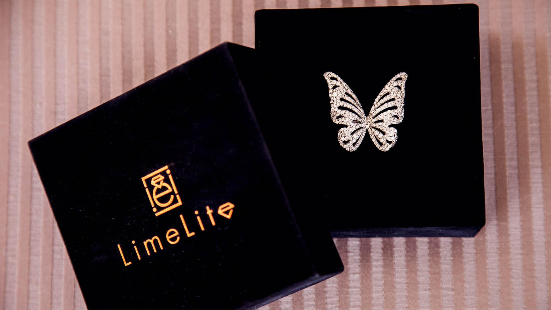 LimeLite Cased Butterfly Ring