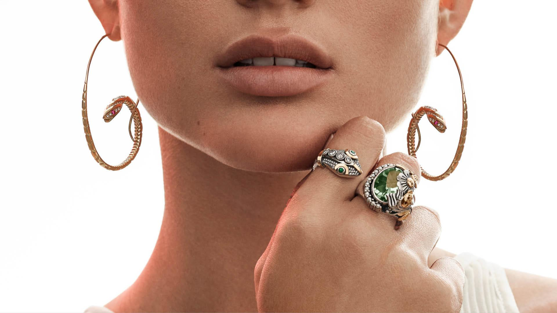 Azza Fahmy Wonders of Nature Double Snake Ring