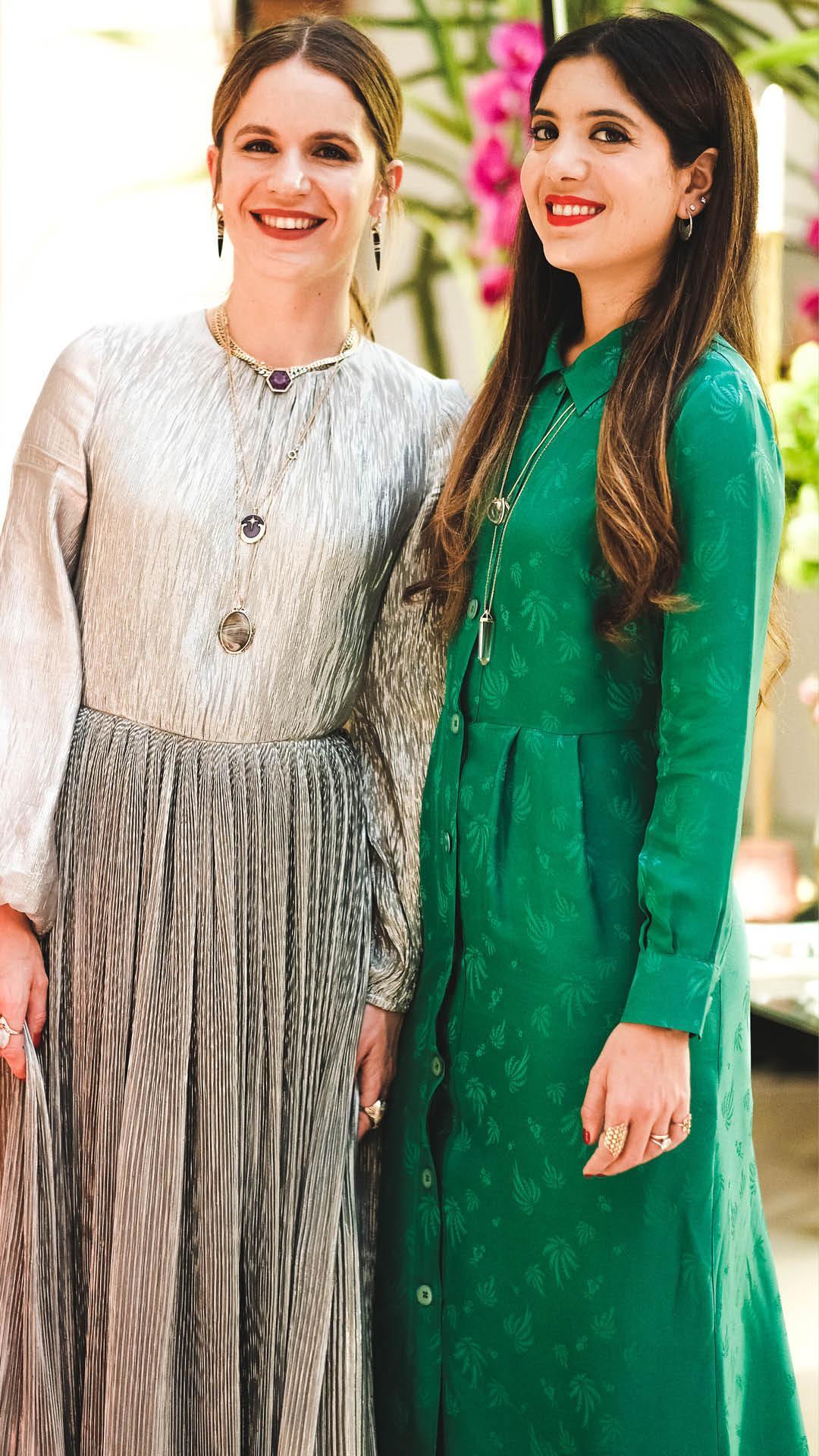Eugenie Niarchos of Venyx and Noor Fares