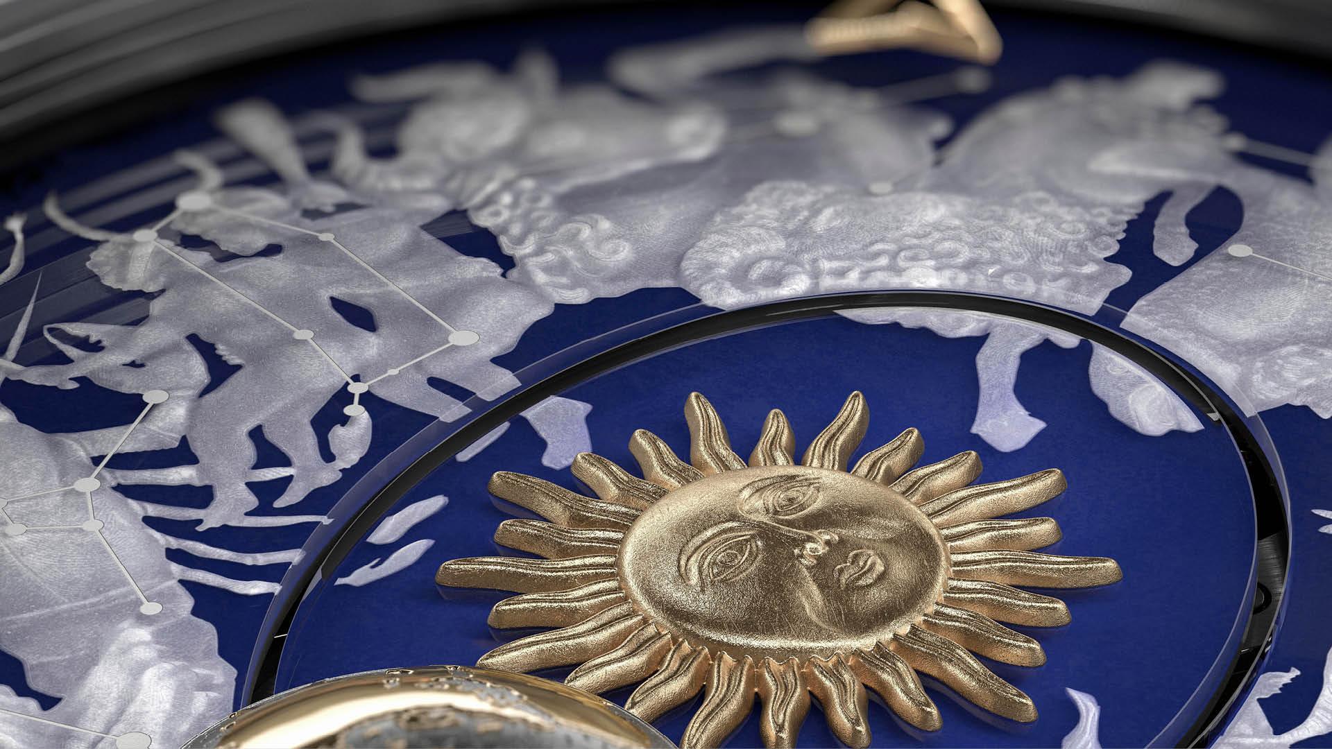 Sun Detail on Vacheron Sapphire Copernicus