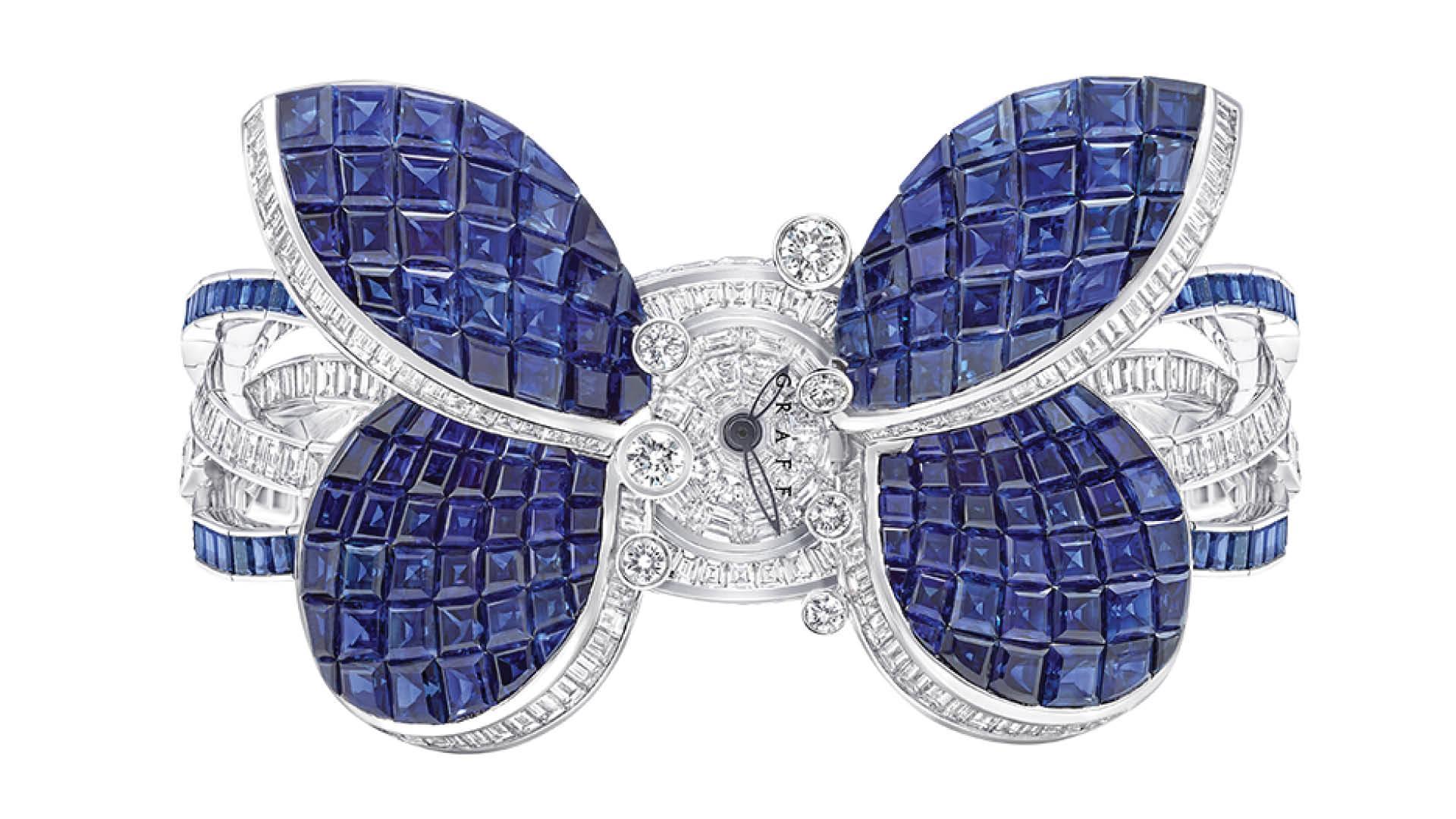 Graff Princess Butterfly Secret Watch Open