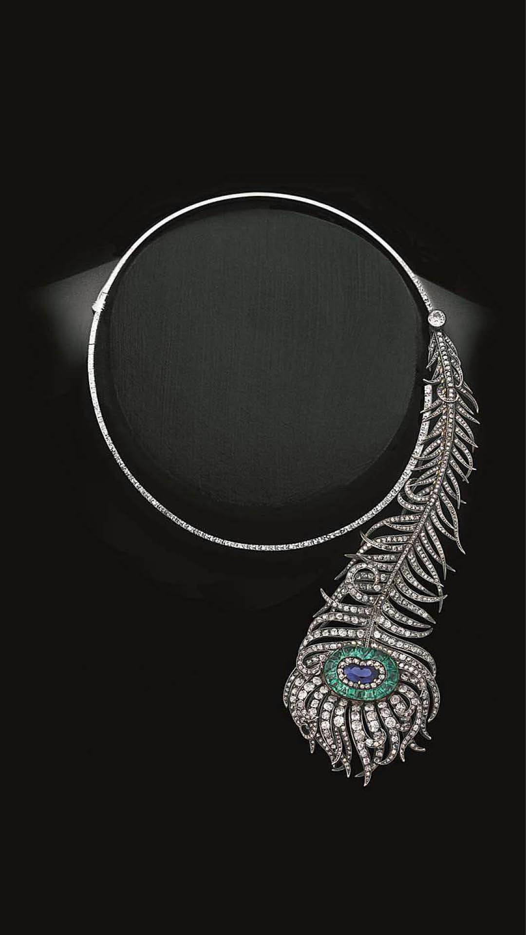 Boucheron Peacock Feather Necklace