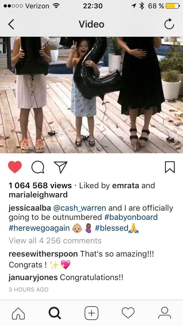 Jessica Alba's Instagram Post