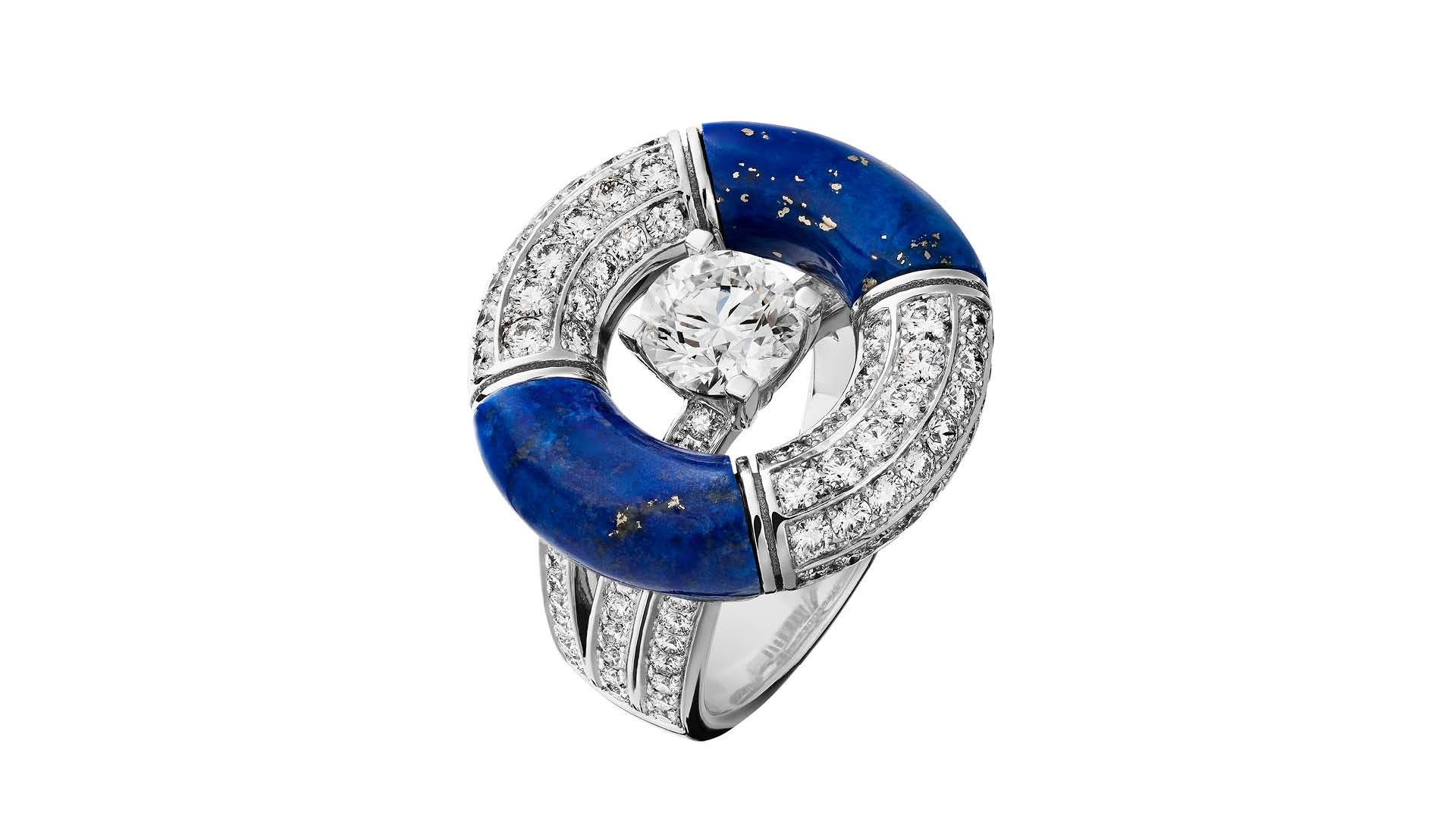 Chanel Precious Float lapis and diamond ring