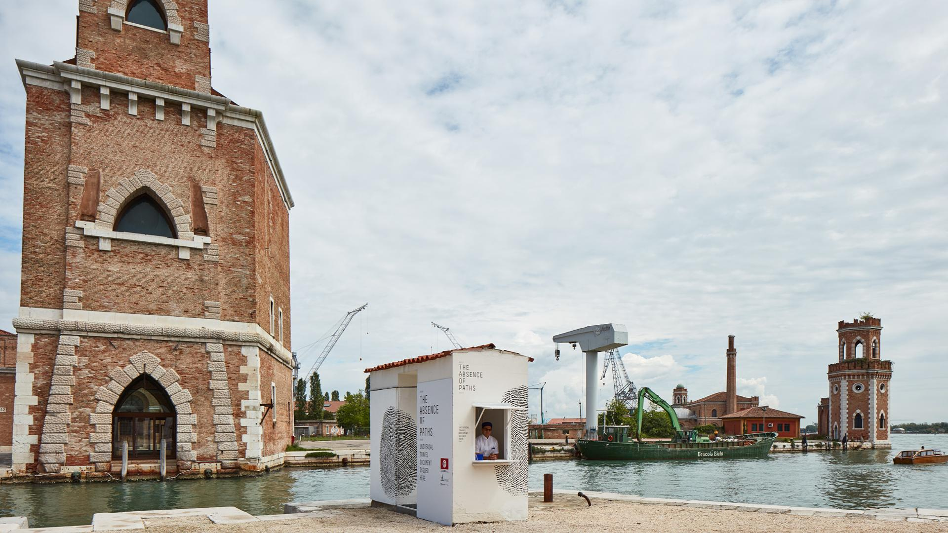 Installation view of The Tunisian Pavilion 'The Absence of Paths' at the 57th Venice Biennale. Photography by Luke Walker.