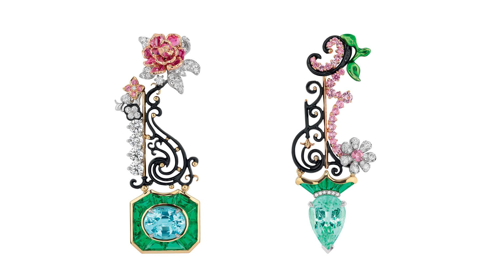 Dior Lacquer and Tourmaline Earrings