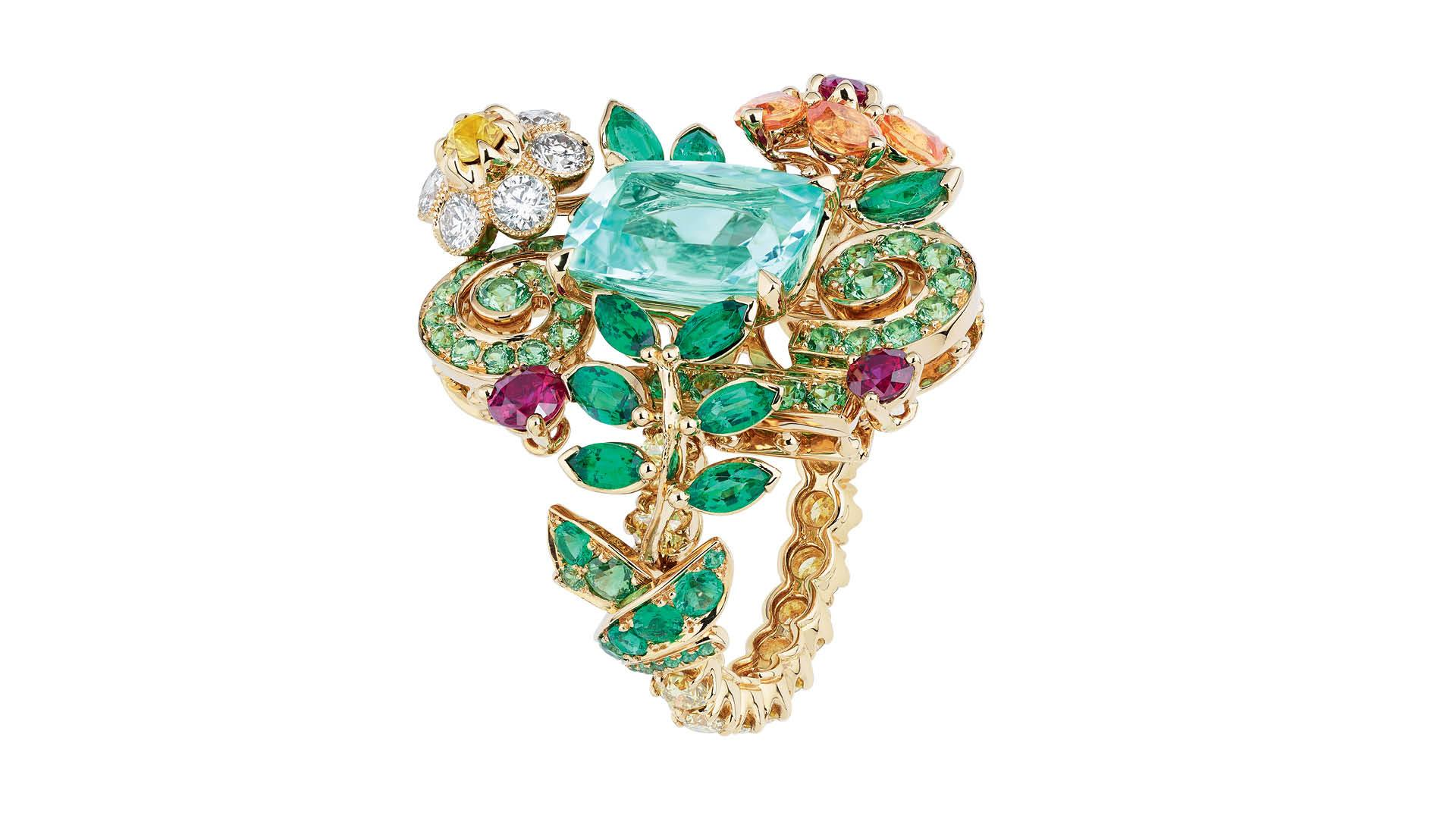 Dior Cote Jardin Paraiba Tourmaline Ring