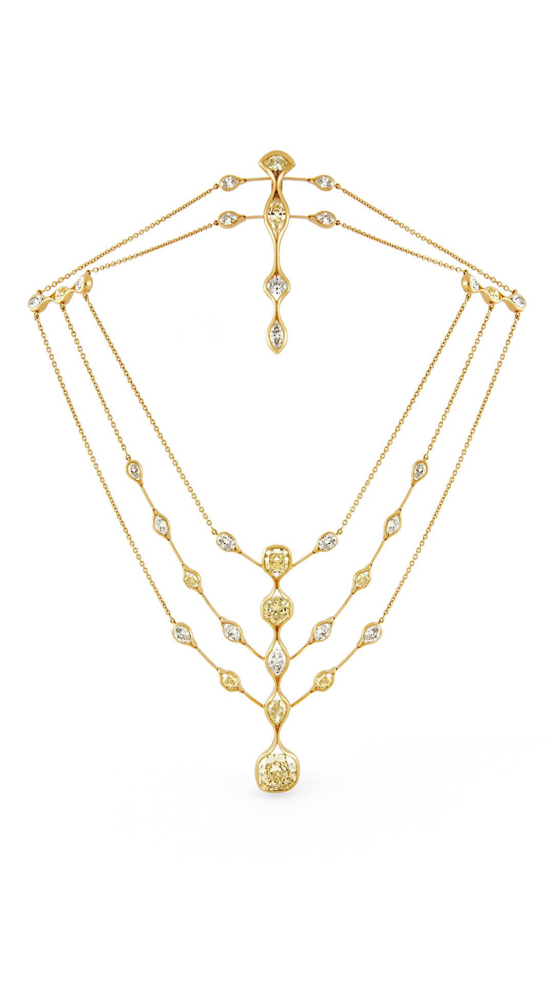 Repossi Ode diamond and gold necklace