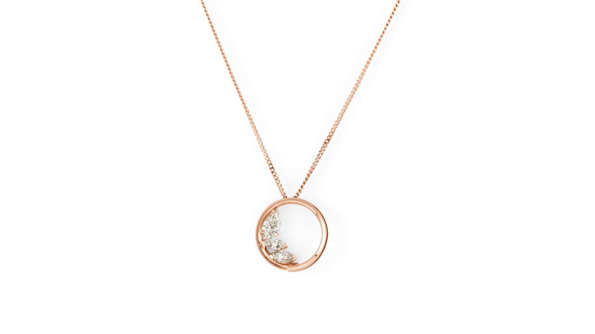 Repossi Studio gold and diamond pendant
