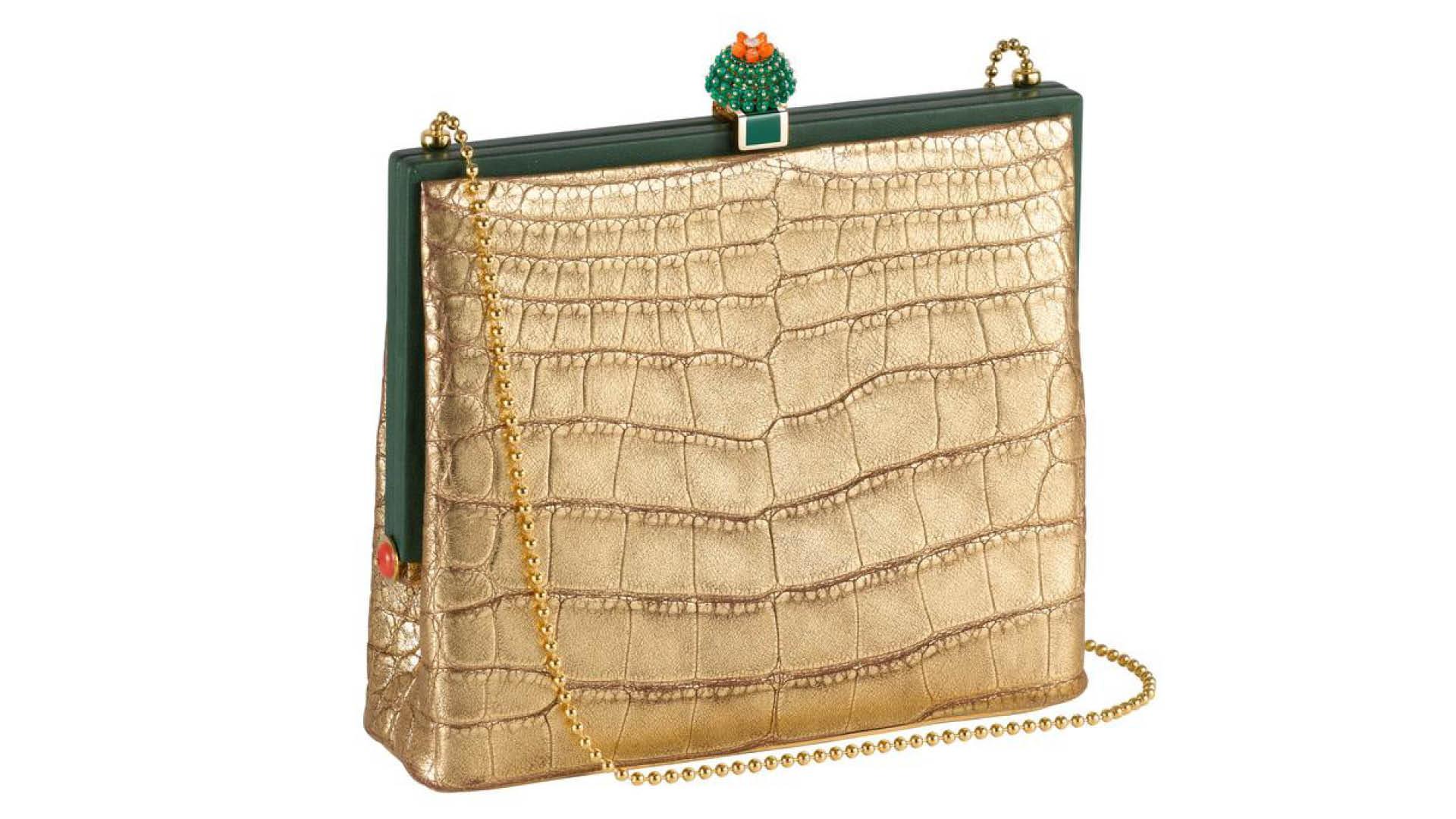 Cactus de Cartier handbag with brooch clasp