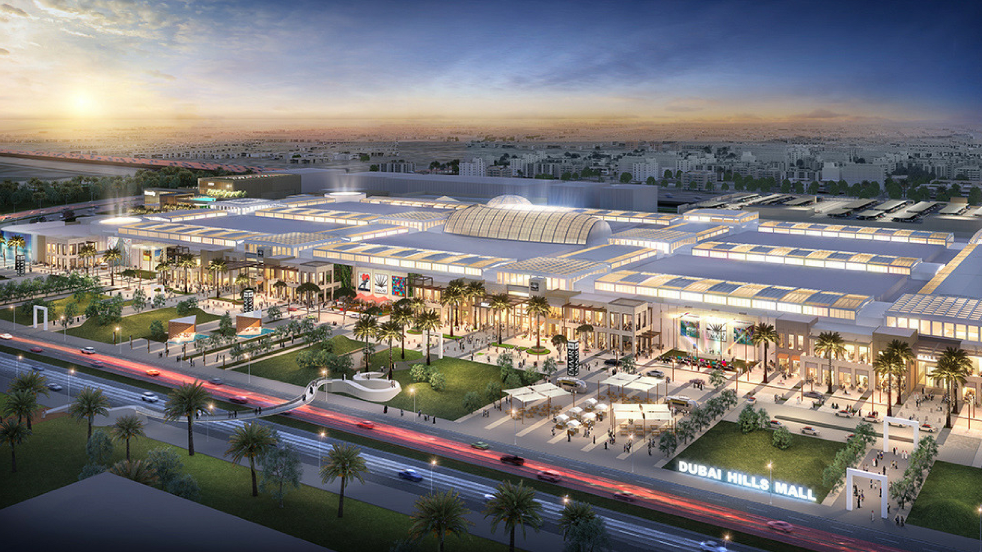 An early render of the new Dubai Hills Mall.