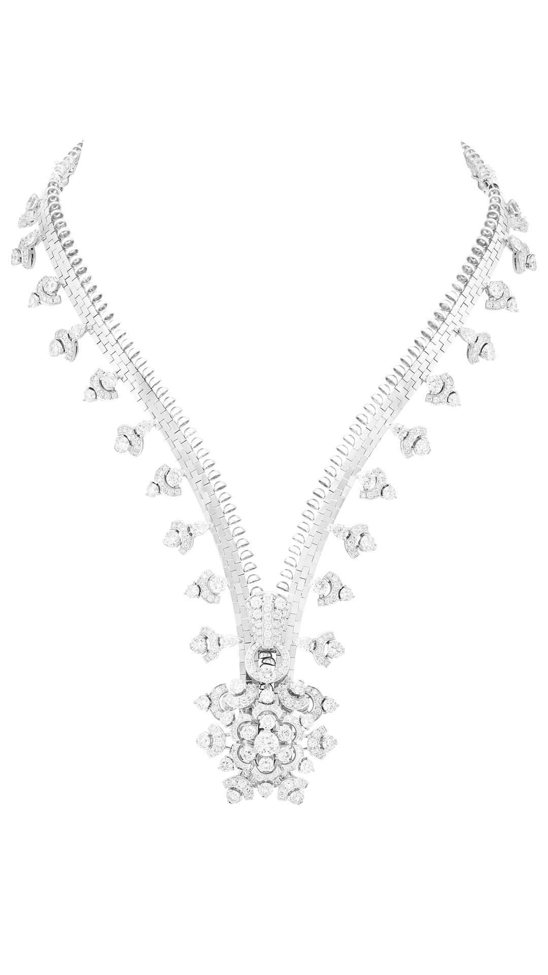 Van Cleef & Arpels Diamond Zip Necklace