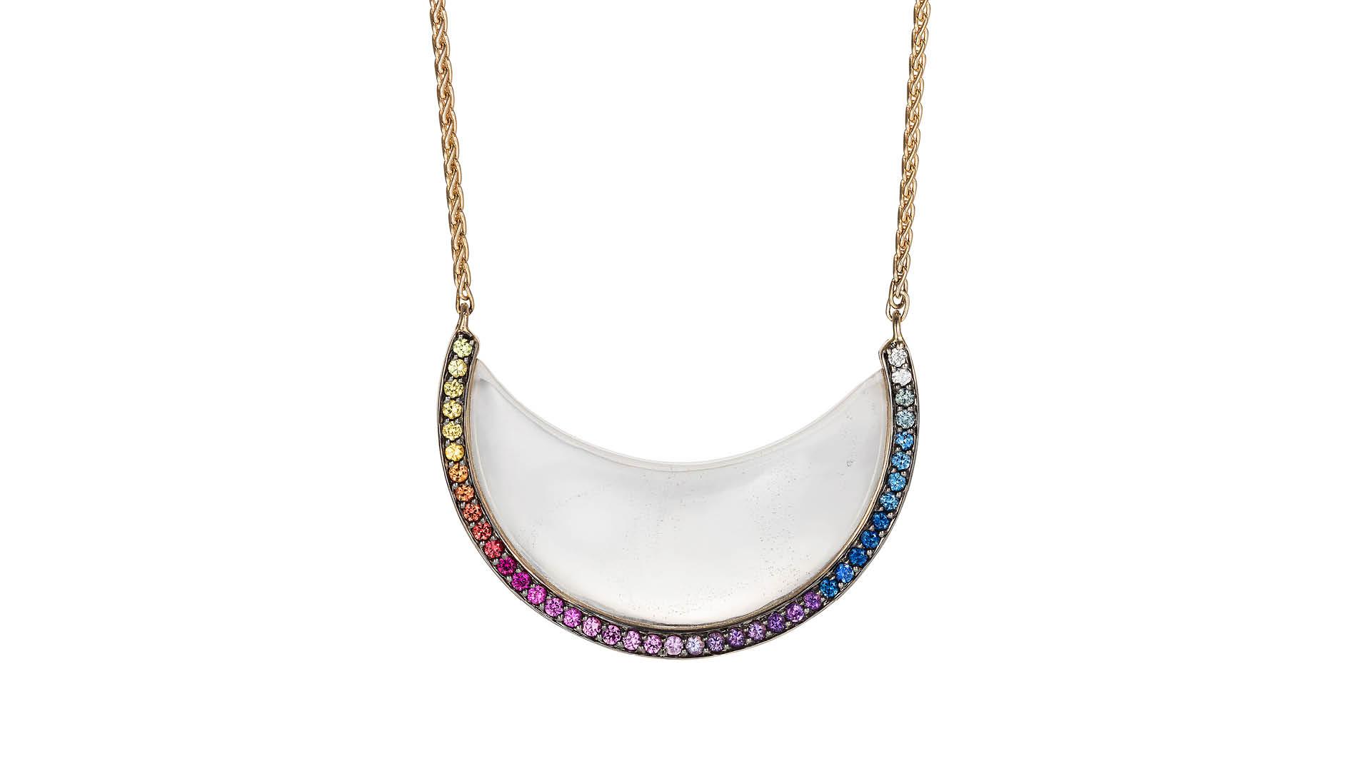 Noor-Fares-Candra-Crescent-Necklace
