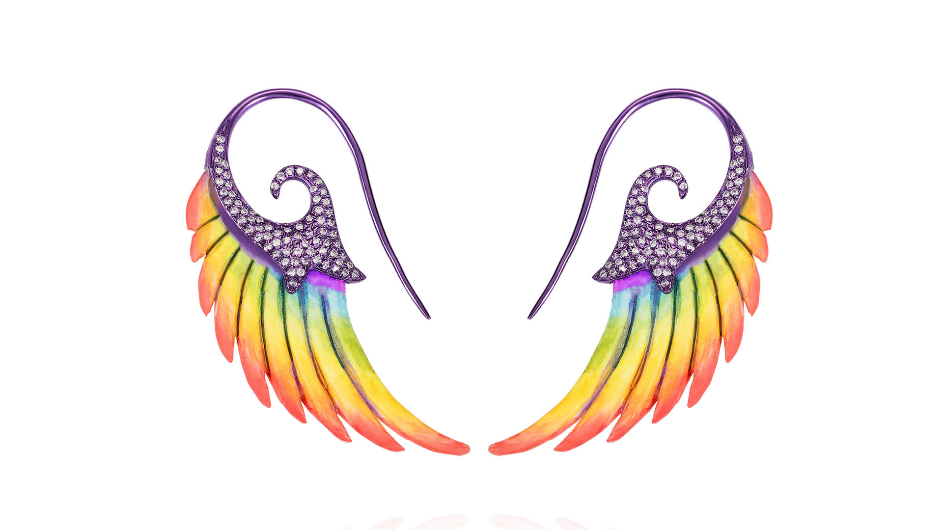 Noor-Fares-Fly-Me-To-The-Moon-Rainbow-Earrings
