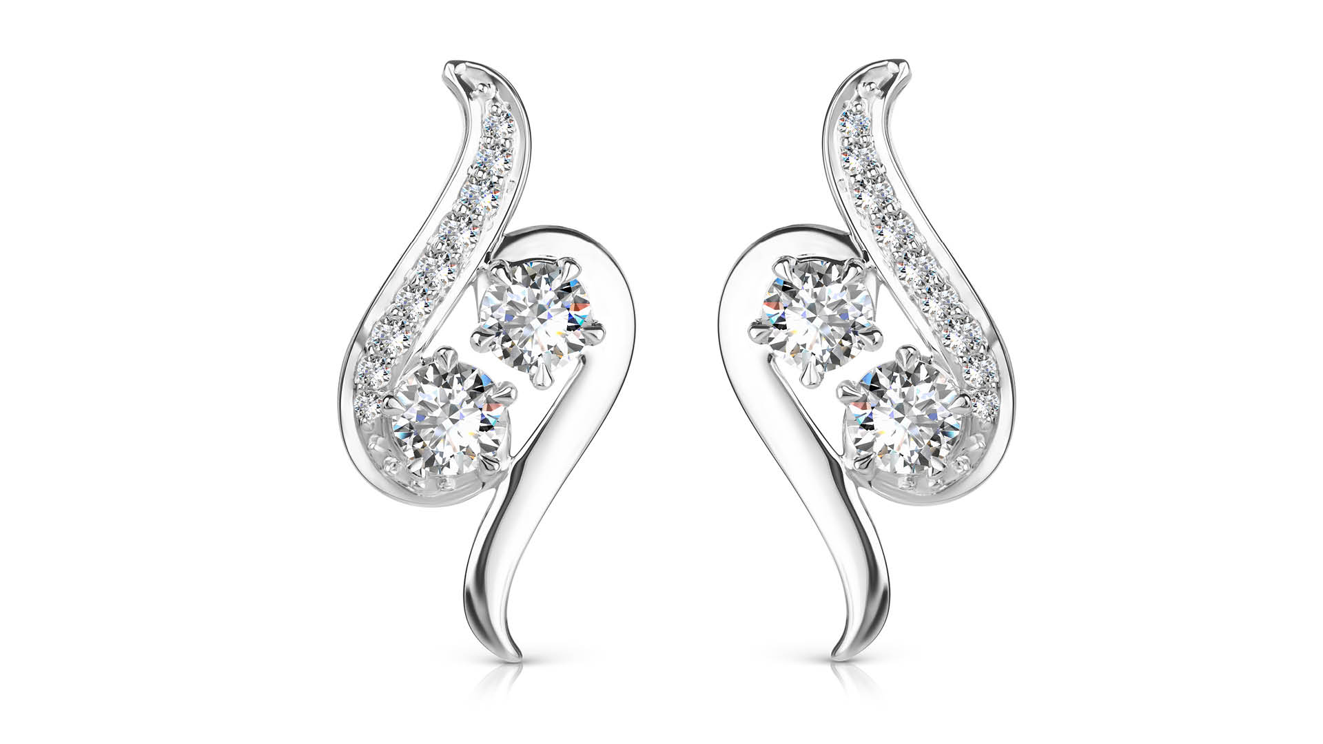 Damas-You-And-I-Two-Stone-Earrings