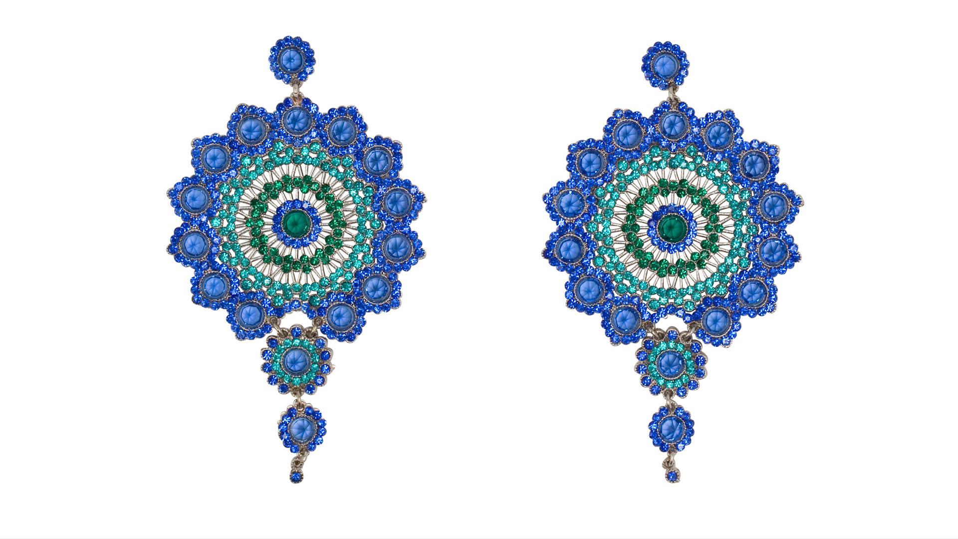 Ilaria-Paci-Peacock-Blue-Earrings