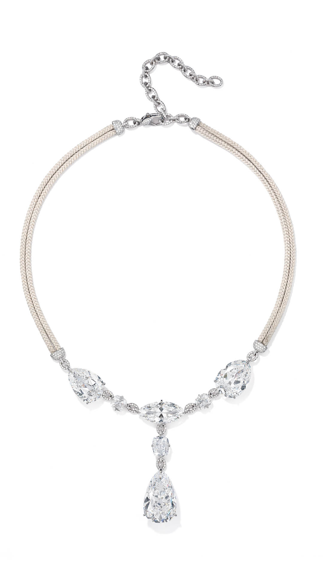 G-International-Cushion-Cut-Diamond-Necklace