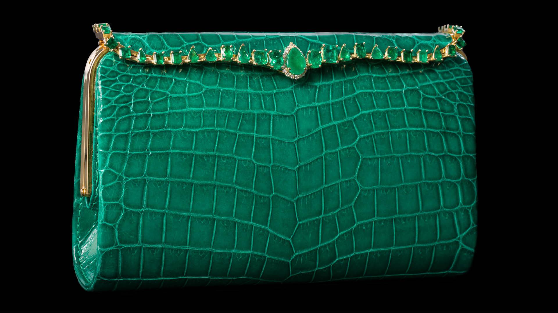 Lana-Marks-Cleopatra-Clutch-Emeralds