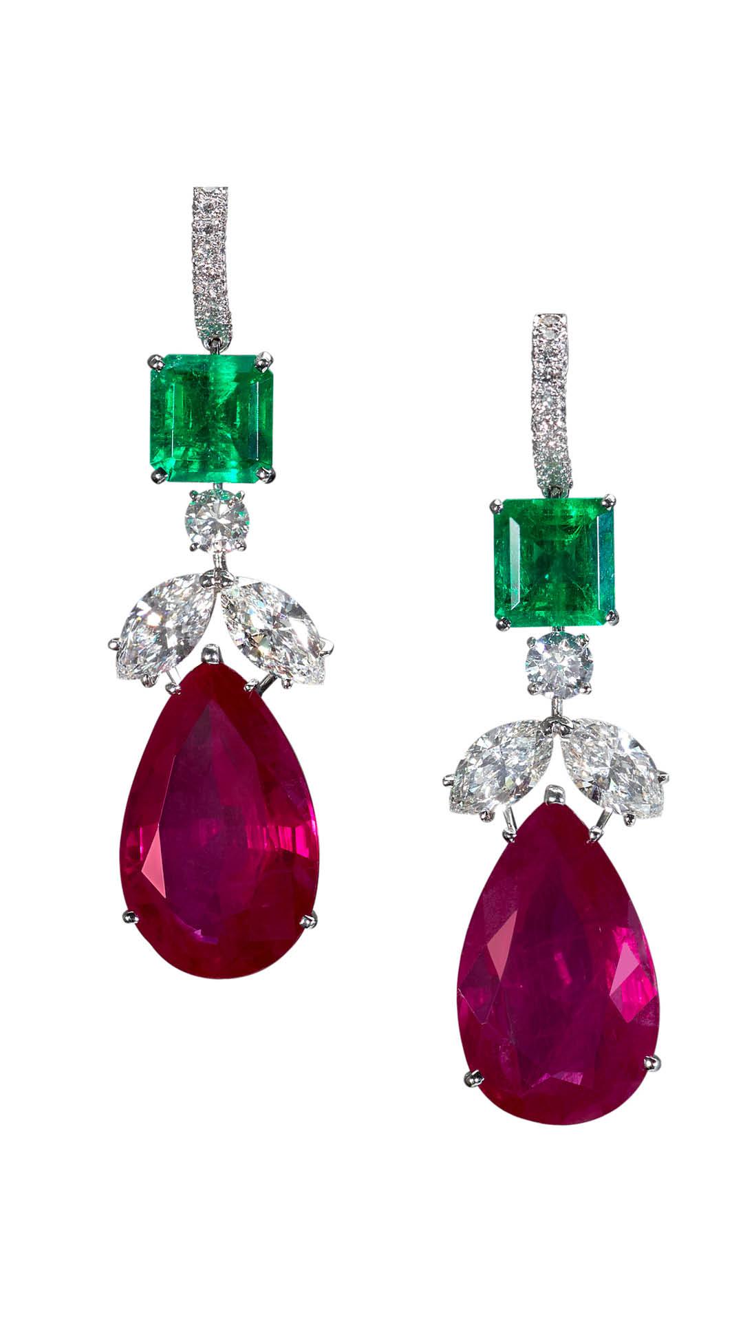 Moussaieff-ruby-emerald-earrings-Masterpiece