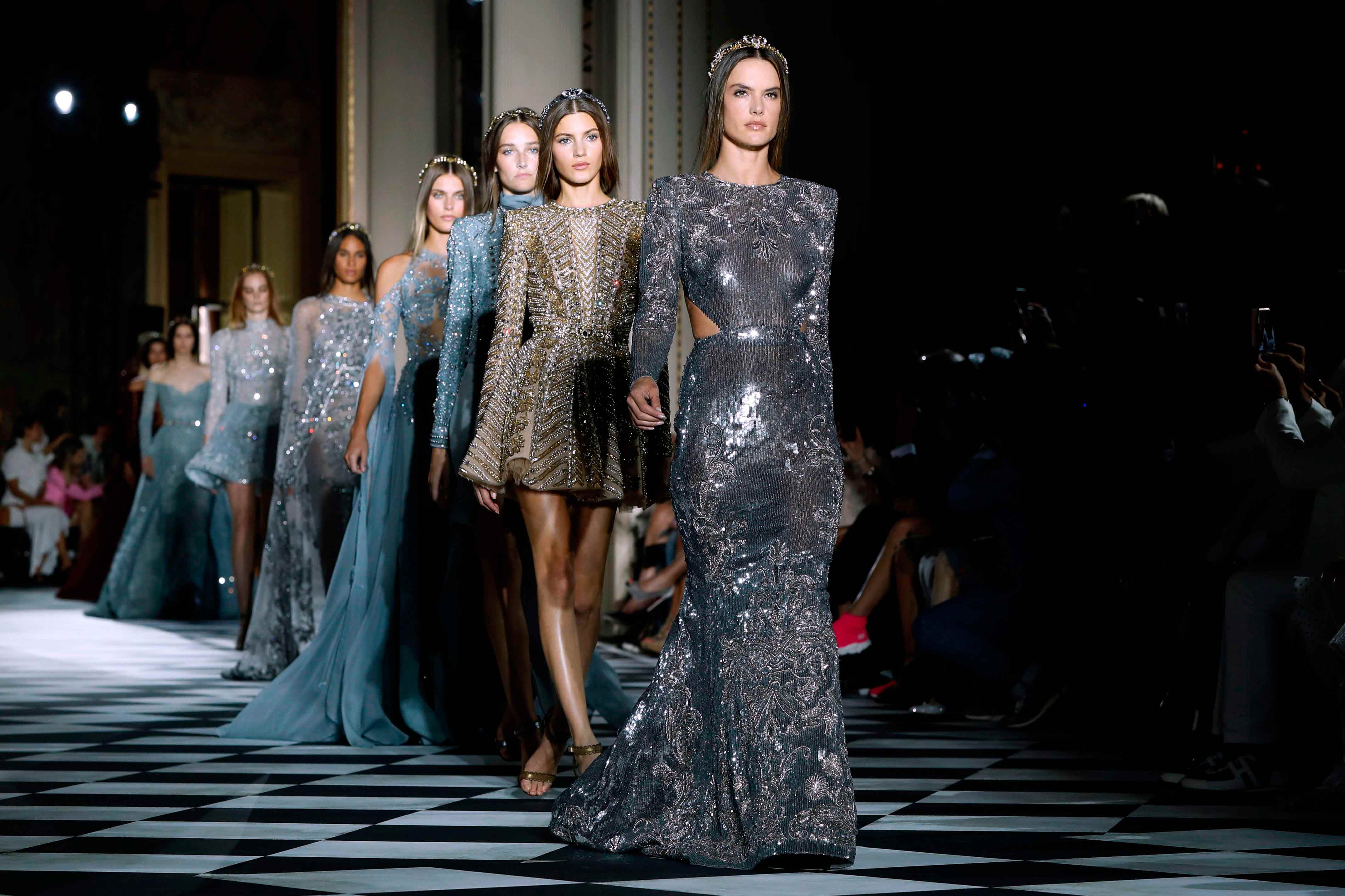 Supermodel Alessandra Ambrosio Opens For Zuhair Murad At Paris Couture Fashion Week