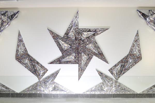 2014 mirror mosaic work by Monir Shahroudy Farmanfarmaian
