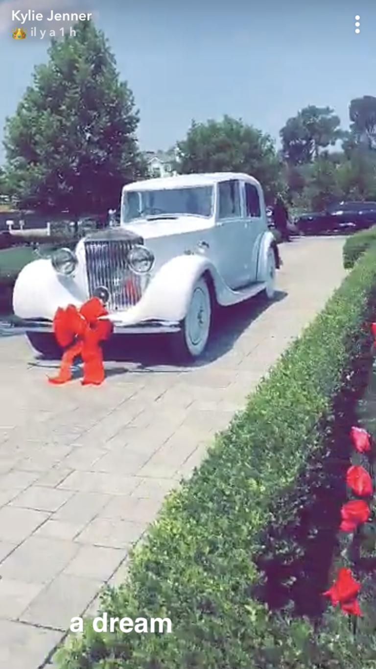 Kylie Jenner's 21st Birthday Gifts Included A Stunning Vintage Rolls Royce From Travis Scott