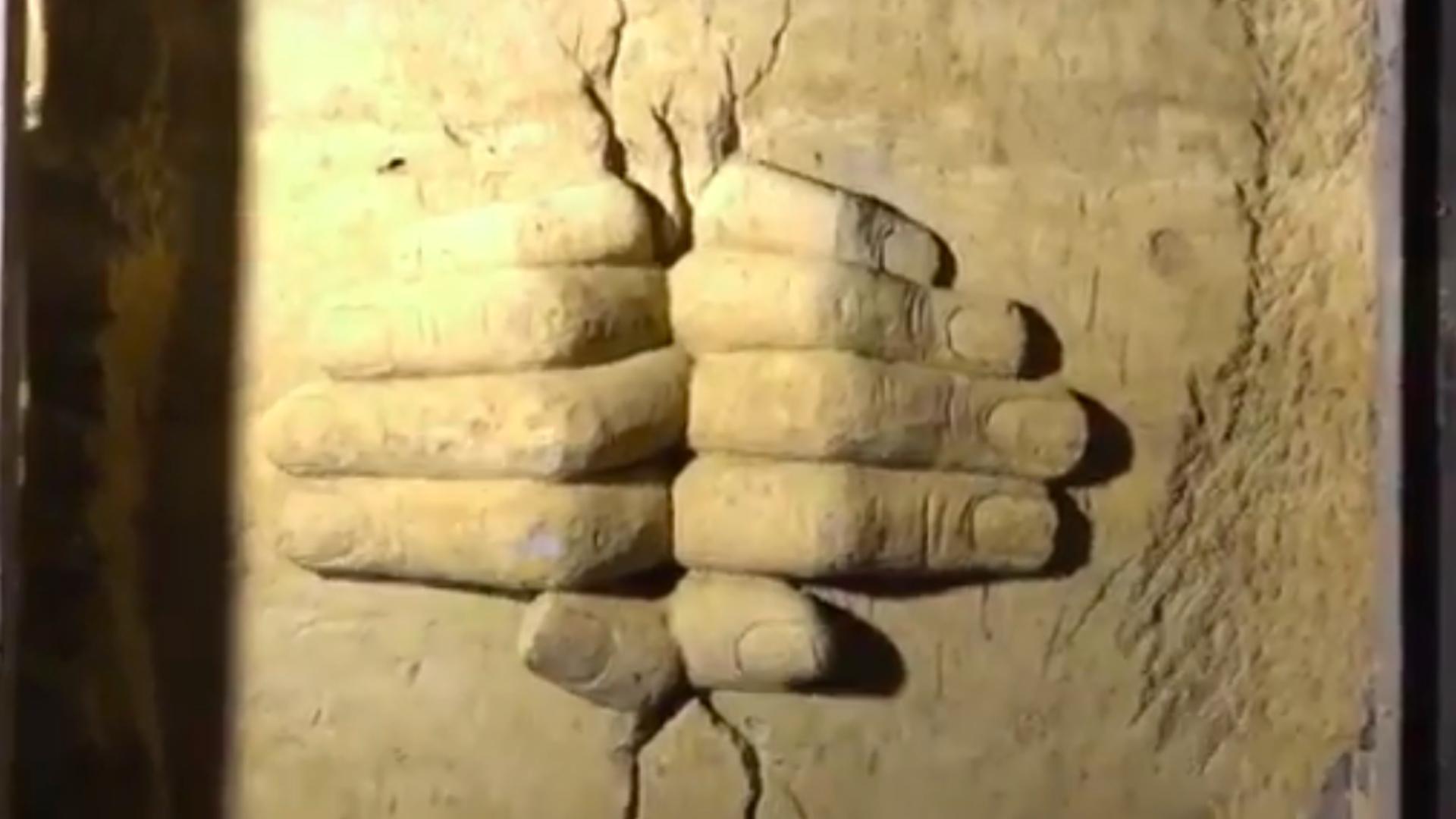 Tunnel sculpture in former militant passageway in Syria