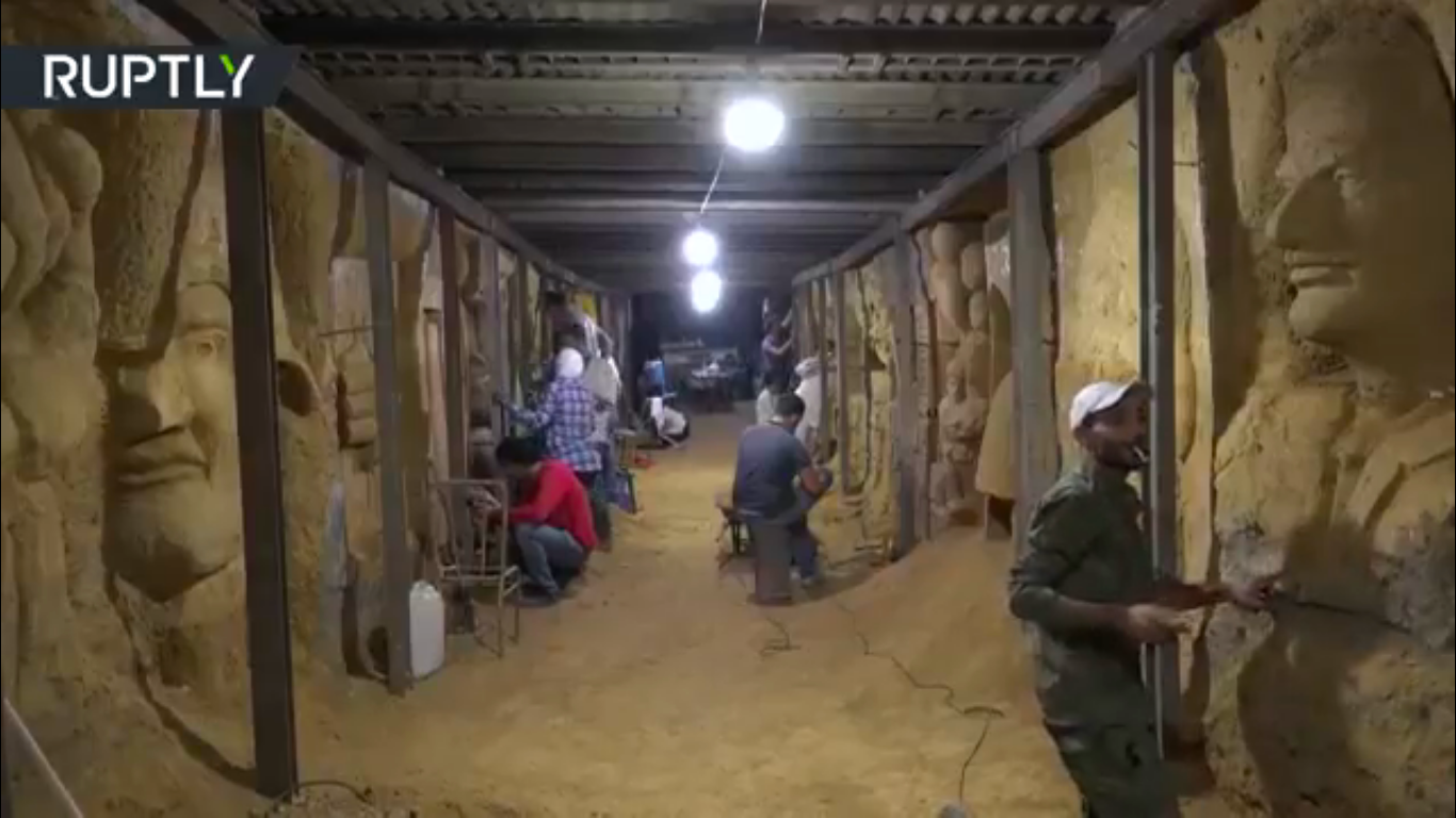 The tunnel in Syria formerly occupied by extremist groups