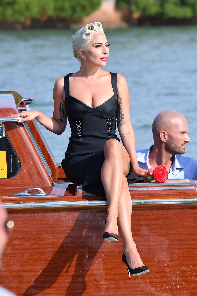 Lady Gaga's Boat Ride To Venice Film Festival Was An Inspiring Level Of Extra