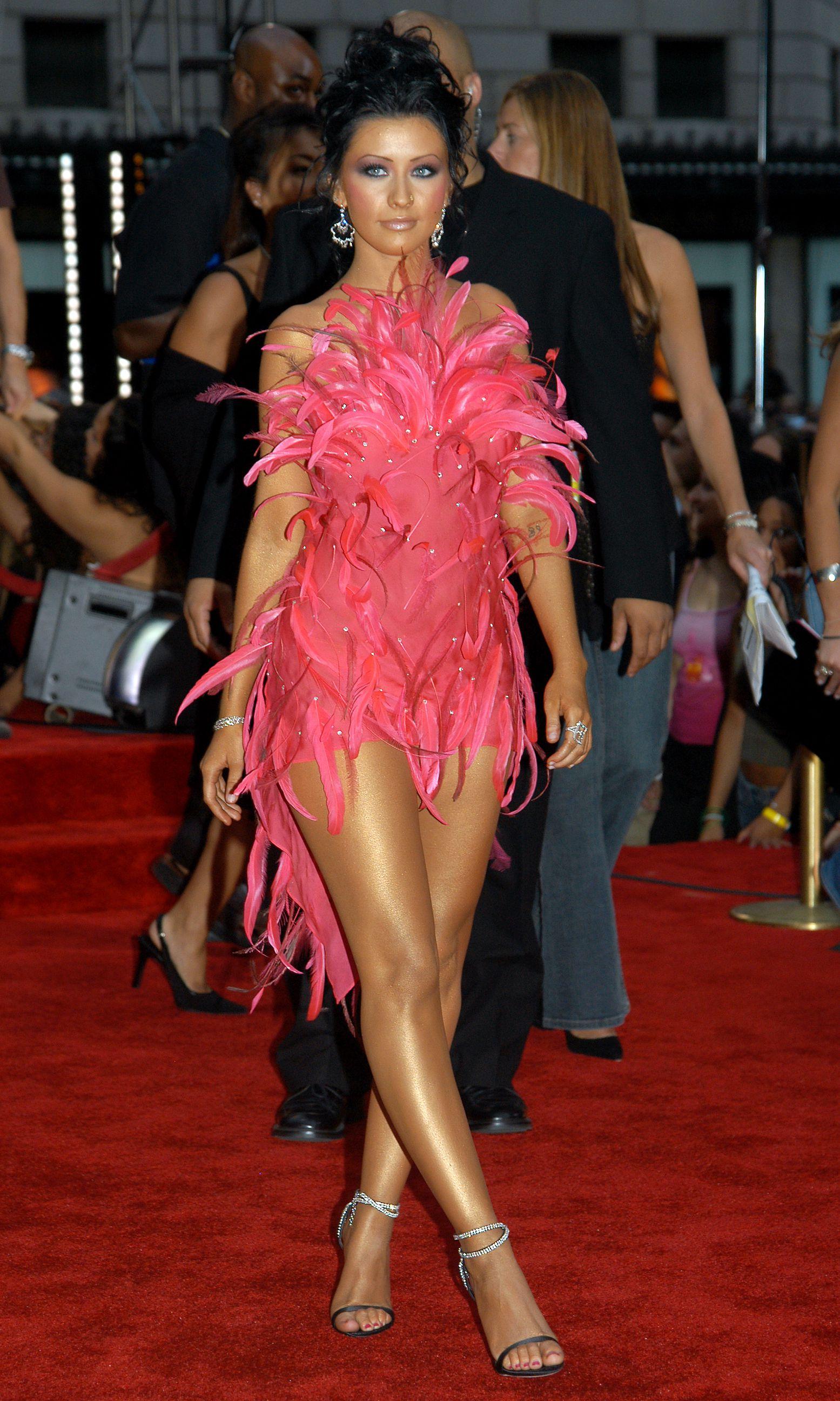 Christina Aguilera Feathery Look - VMA