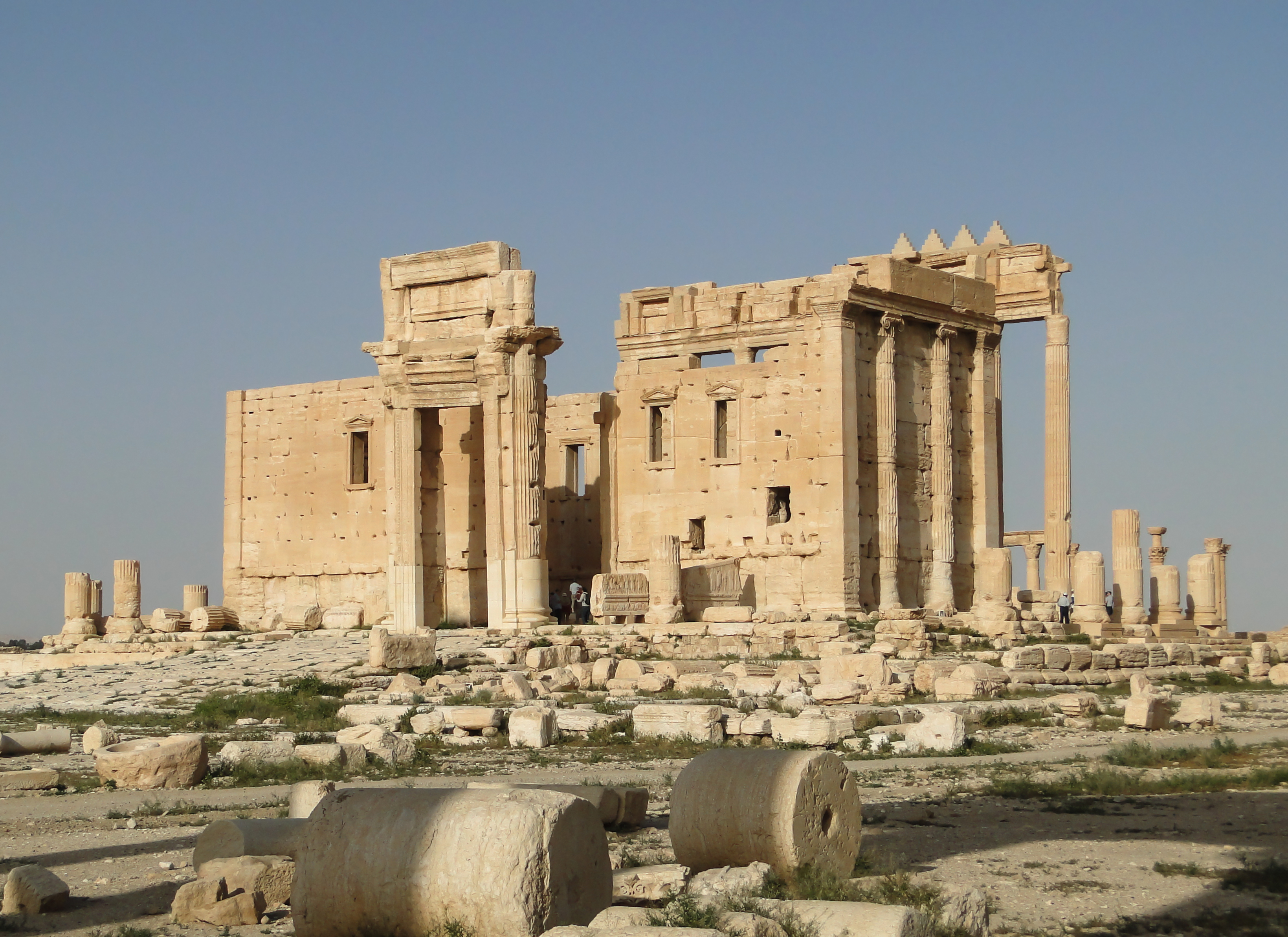 The Temple of Bel in Palmyra, destroyed by ISIS militants in 2015. Image courtesy Wikimedia Commons