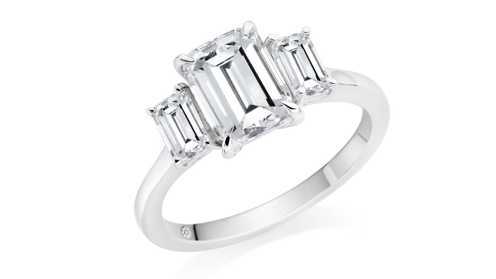 Fergus James Emerald Cut Engagement Ring Dubai