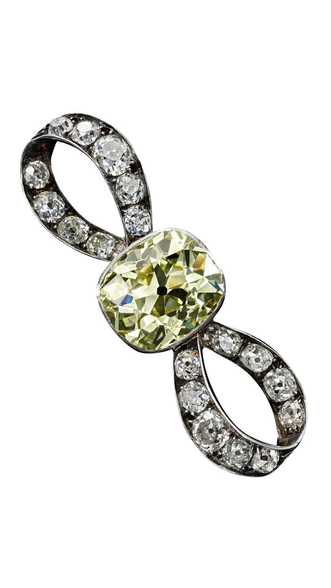 Sothebys Dubai Marie Antoinette Diamond Brooch