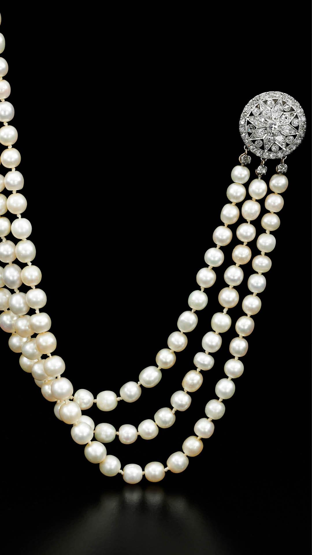 Sothebys Dubai Marie Antoinette Natural Pearl Necklace
