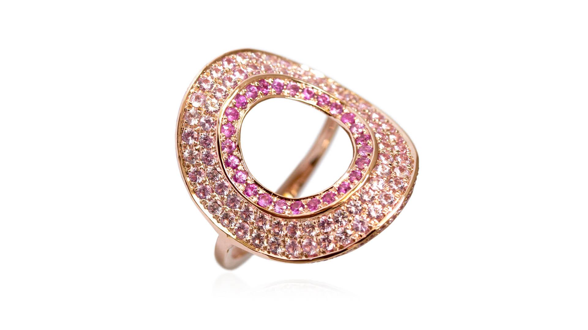 Ralph Masri New Modernist Collection Pink Sapphire Ring