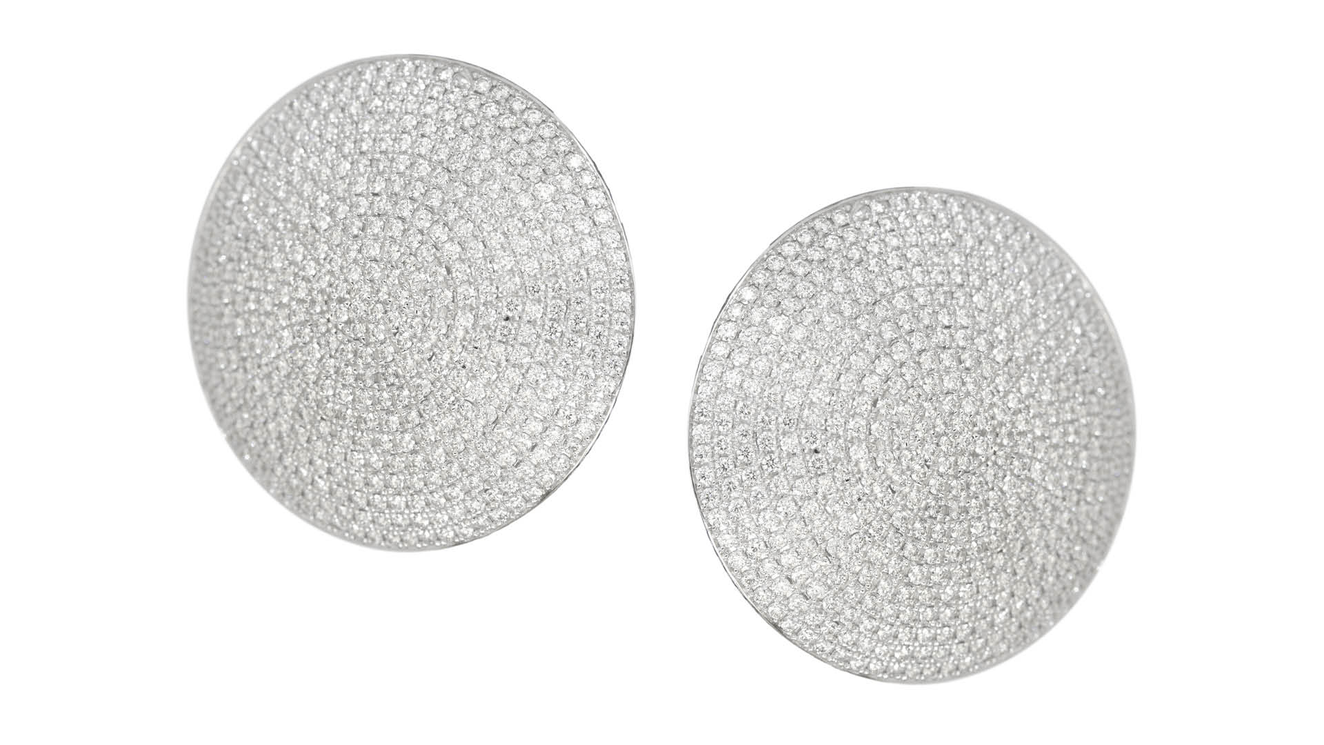 Ralph Masri New Modernist Diamond Earrings