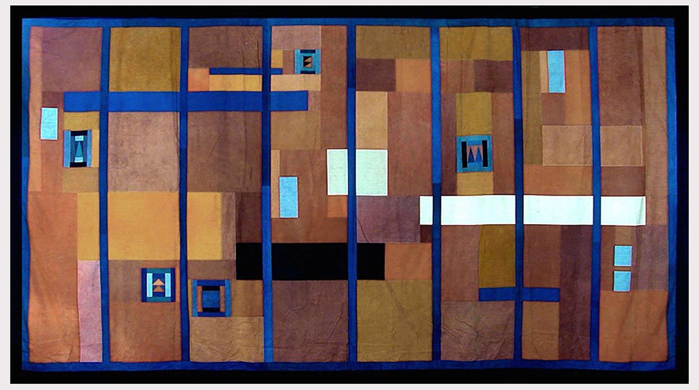 Chant Avedissian. Squares. 1984. Hand-dyed cotton. 230 x 410 cm. Image courtesy of Sabrina Amrani