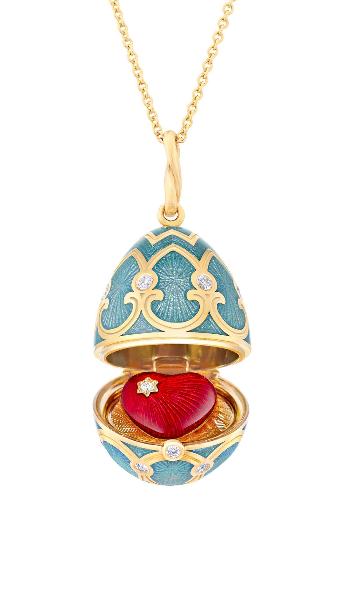 Faberge Palais Tsarskoye Selo Turquoise Locket