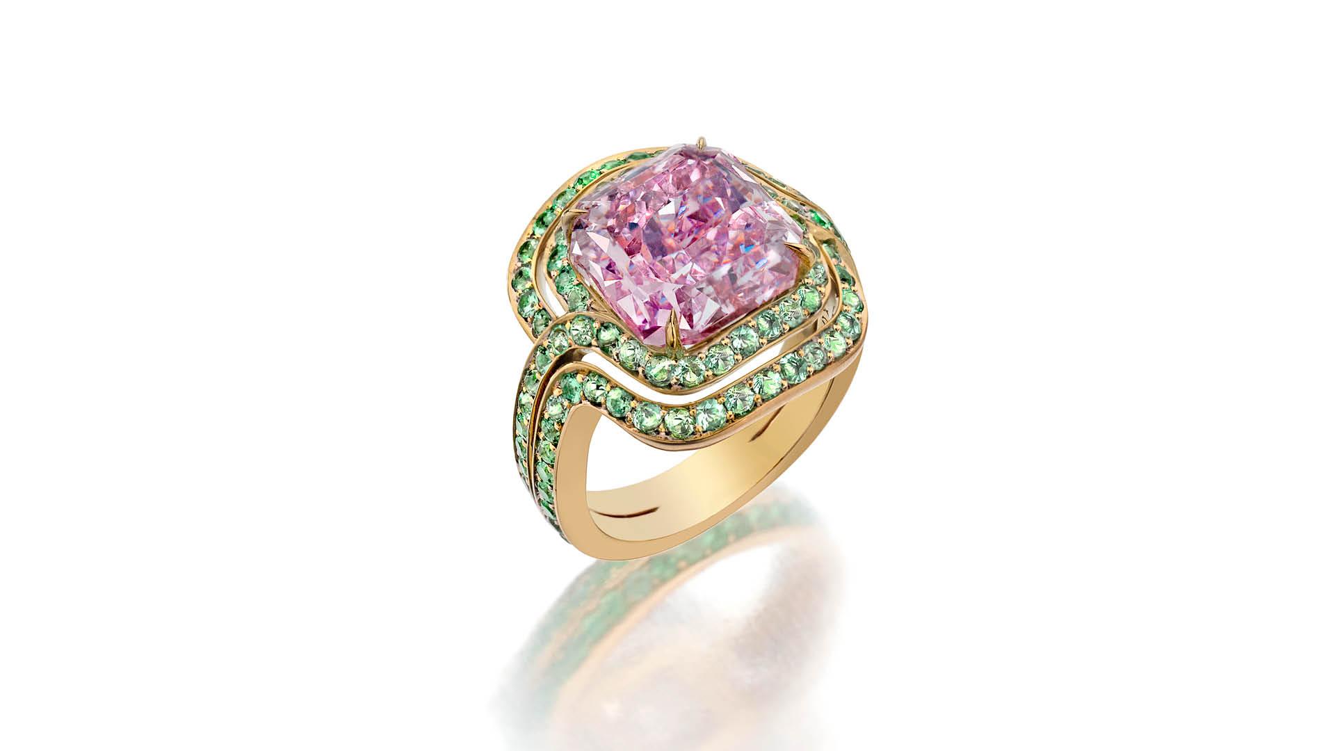 Infinitas Pink Diamond Ring Lily Gabriella Sothebys Diamonds
